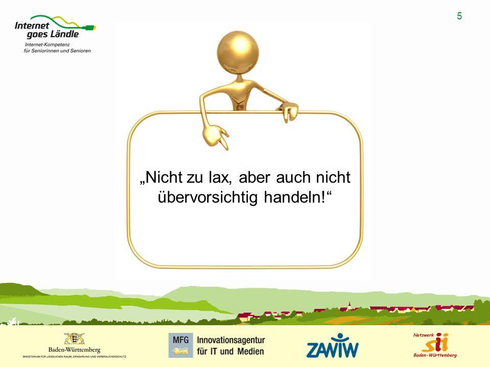 """5 MUSTERPRÄSENTATION 09.01.2008 5 """"Nicht zu lax, aber auch nicht übervorsichtig handeln!"""""""