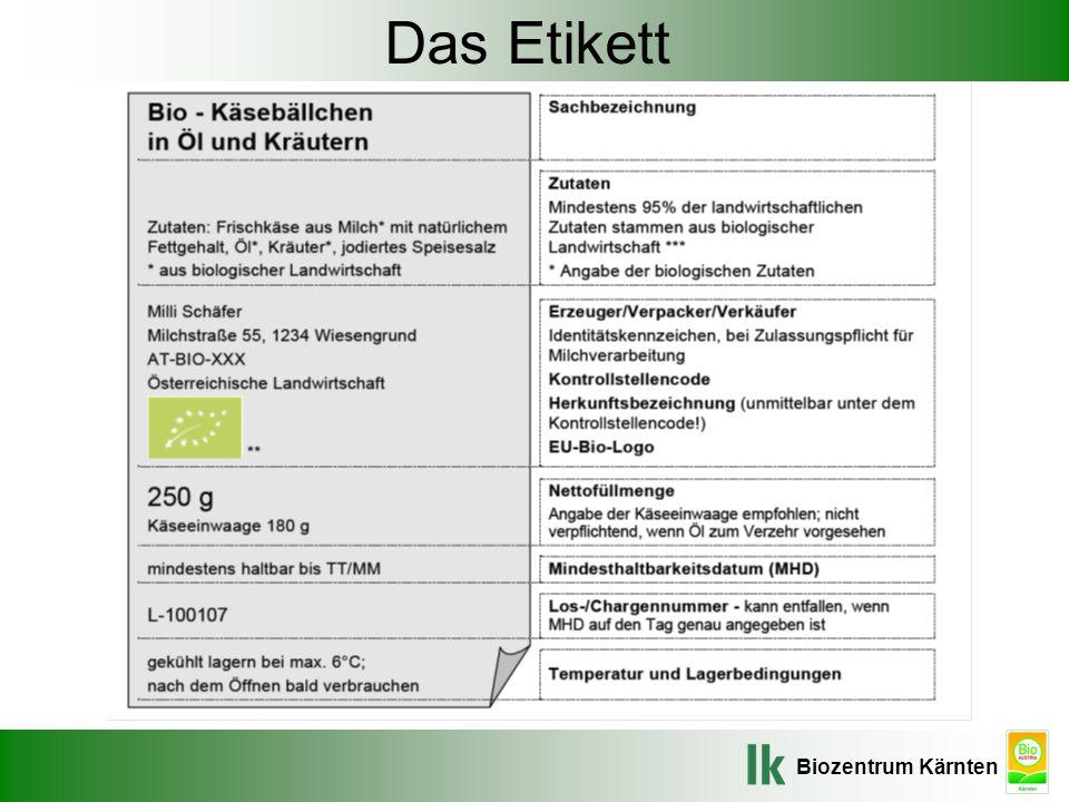 Biozentrum Kärnten Das Etikett