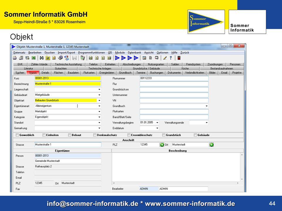 www.sommer-informatik.de 44 Objekt