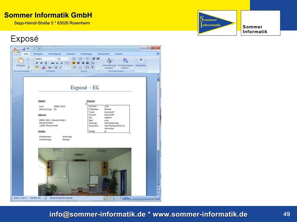 www.sommer-informatik.de 49 Exposé