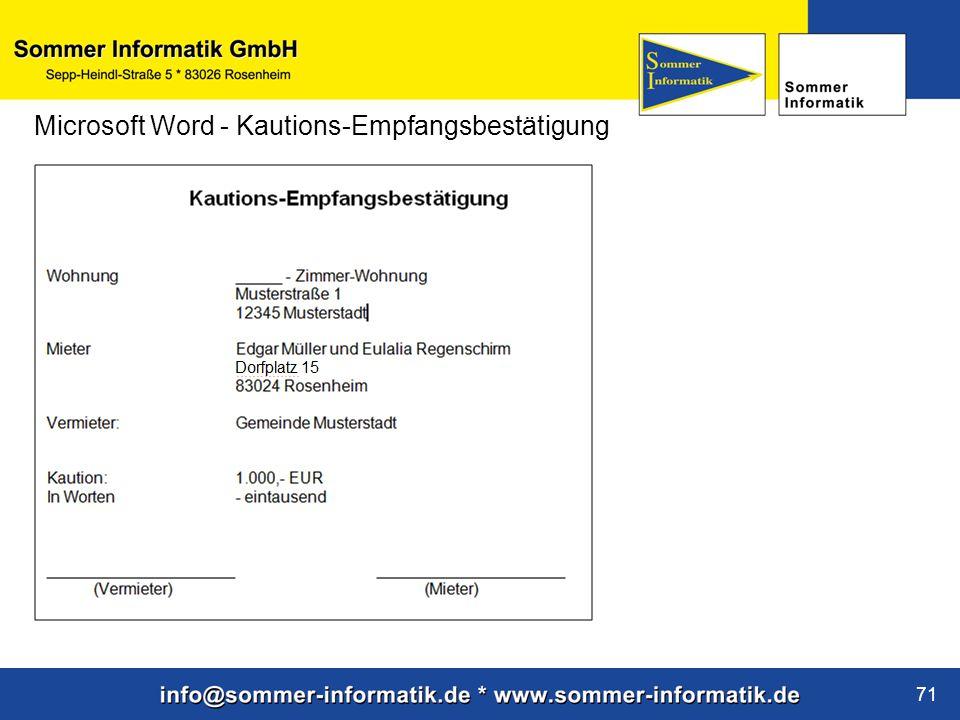 www.sommer-informatik.de 71 Microsoft Word - Kautions-Empfangsbestätigung