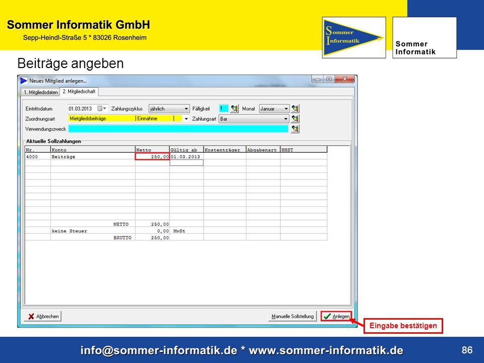 www.sommer-informatik.de 86 Beiträge angeben Eingabe bestätigen