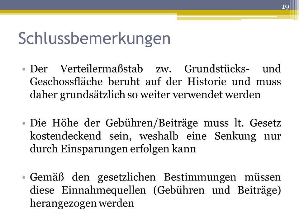 Schlussbemerkungen Der Verteilermaßstab zw.