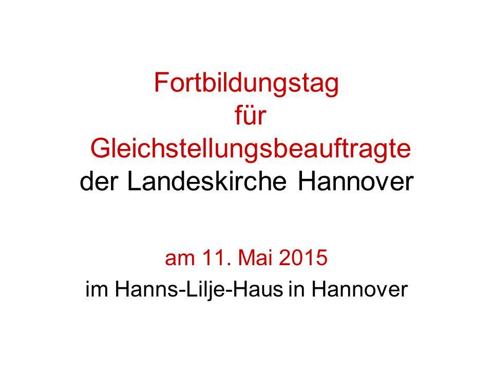 Fortbildungstag für Gleichstellungsbeauftragte der Landeskirche Hannover am 11.