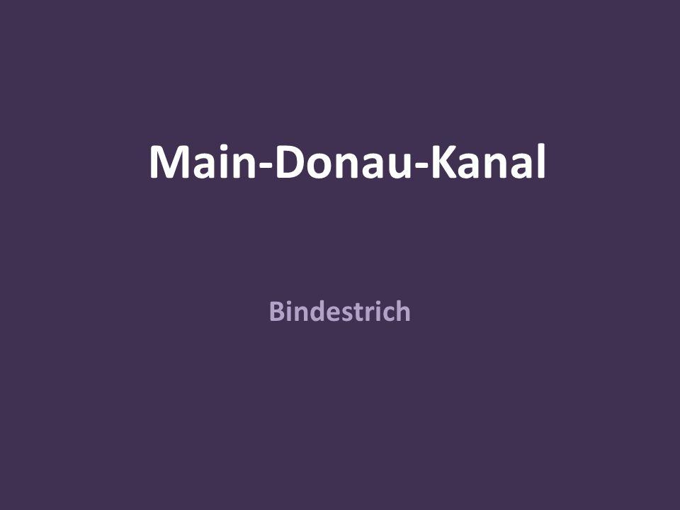 Main-Donau-Kanal Bindestrich