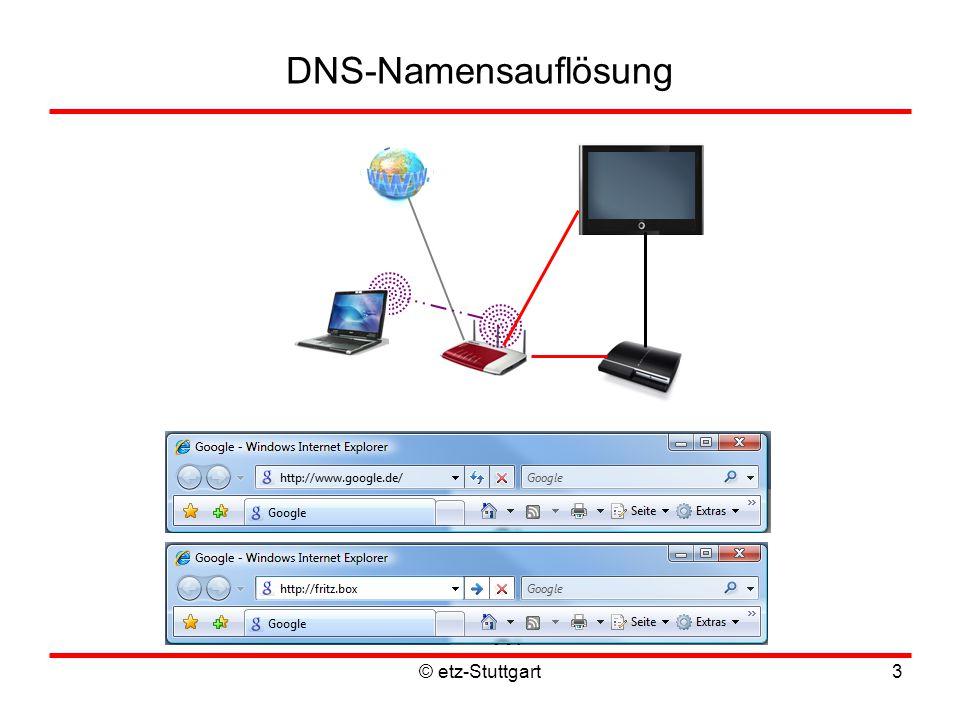 © etz-Stuttgart3 DNS-Namensauflösung