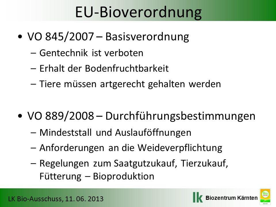 Biozentrum Kärnten LK Bio-Ausschuss, 11. 06. 2013 Umstellung auf BIO