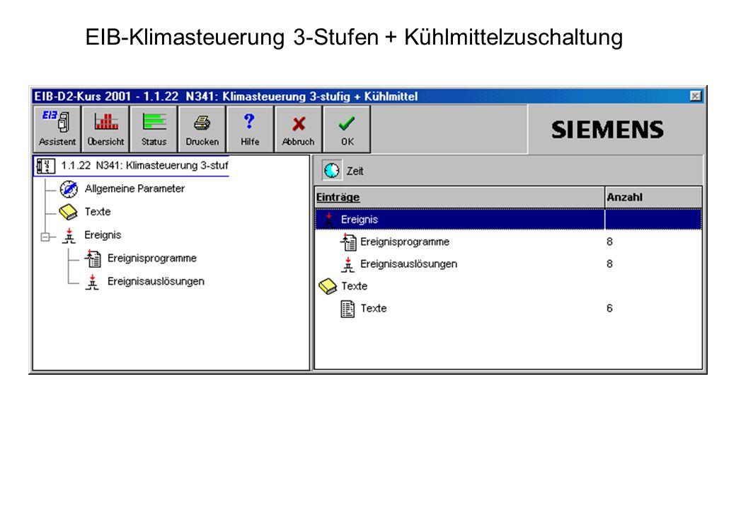 EIB-Klimasteuerung 3-Stufen + Kühlmittelzuschaltung