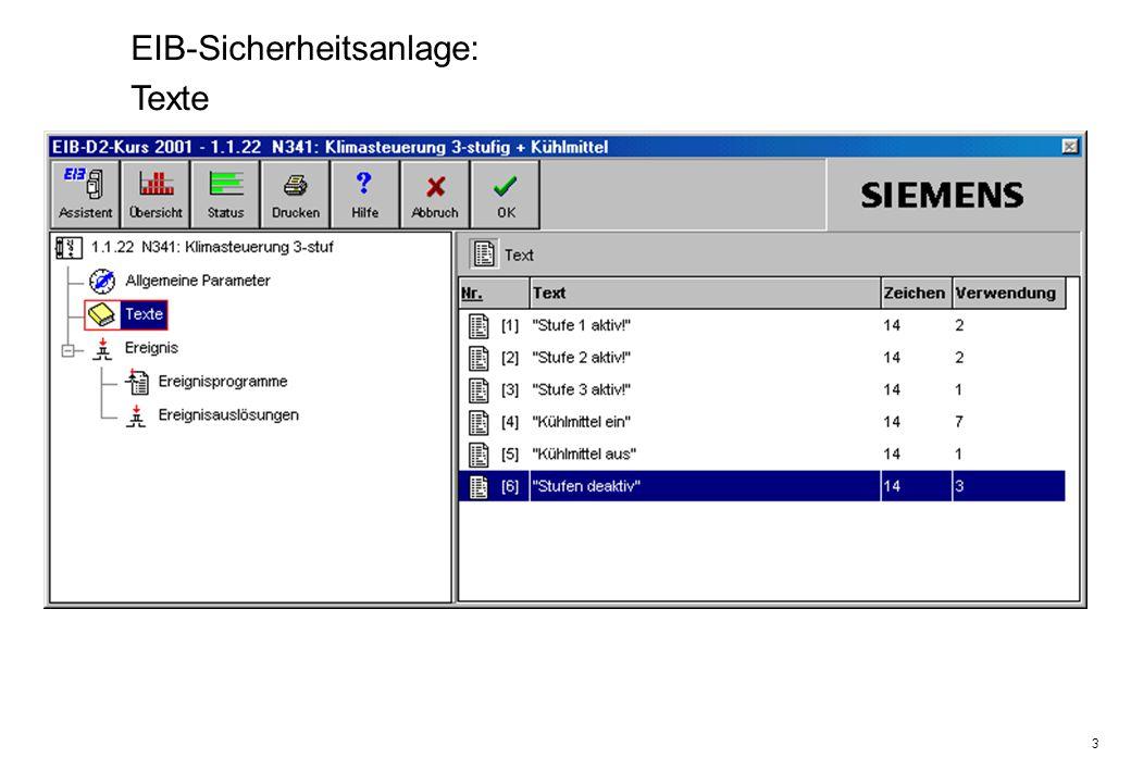 3 EIB-Sicherheitsanlage: Texte