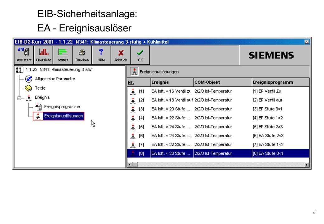 4 EIB-Sicherheitsanlage: EA - Ereignisauslöser