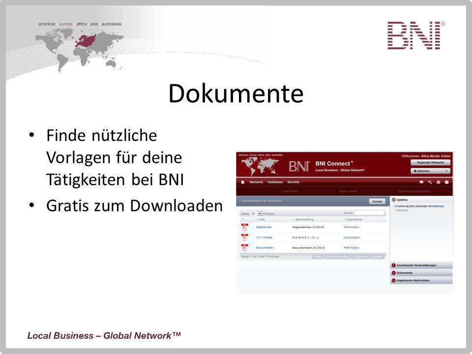 Dokumente Finde nützliche Vorlagen für deine Tätigkeiten bei BNI Gratis zum Downloaden