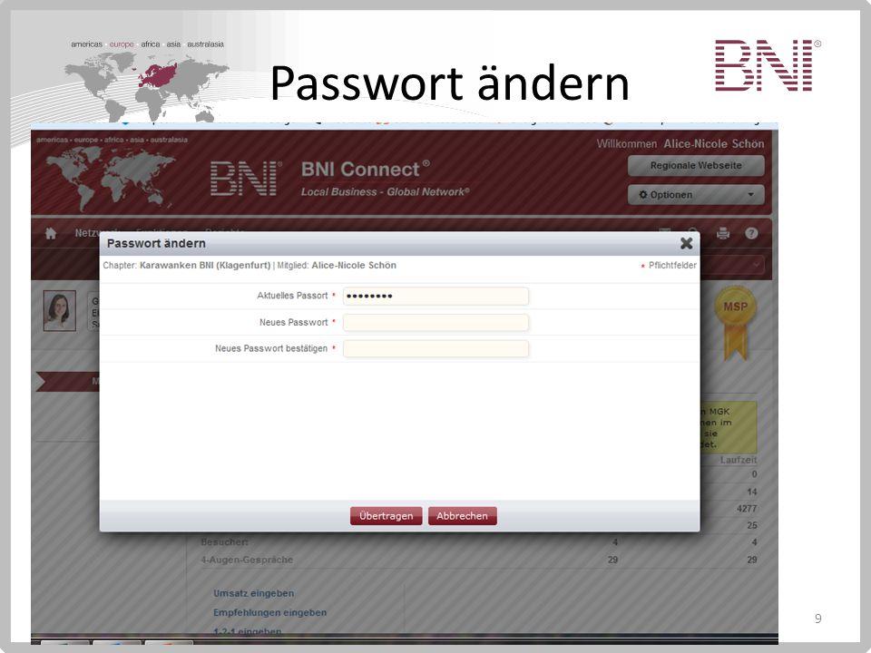 9 Passwort ändern