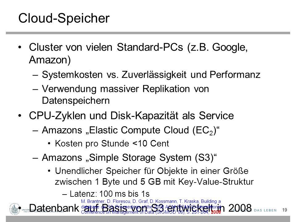 Cloud-Speicher Cluster von vielen Standard-PCs (z.B.