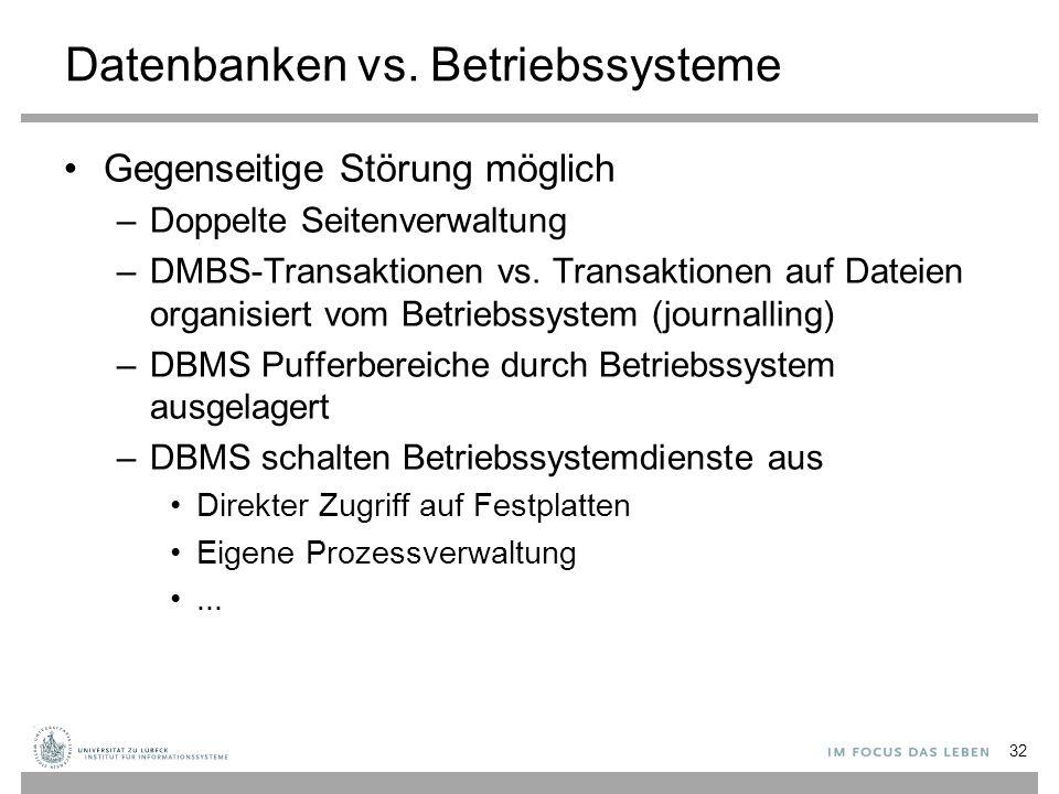 Datenbanken vs.