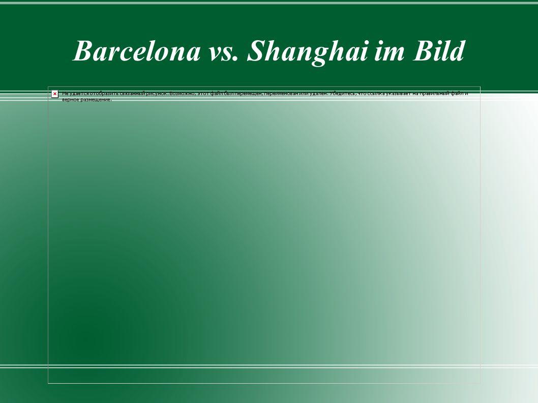 Barcelona vs. Shanghai im Bild
