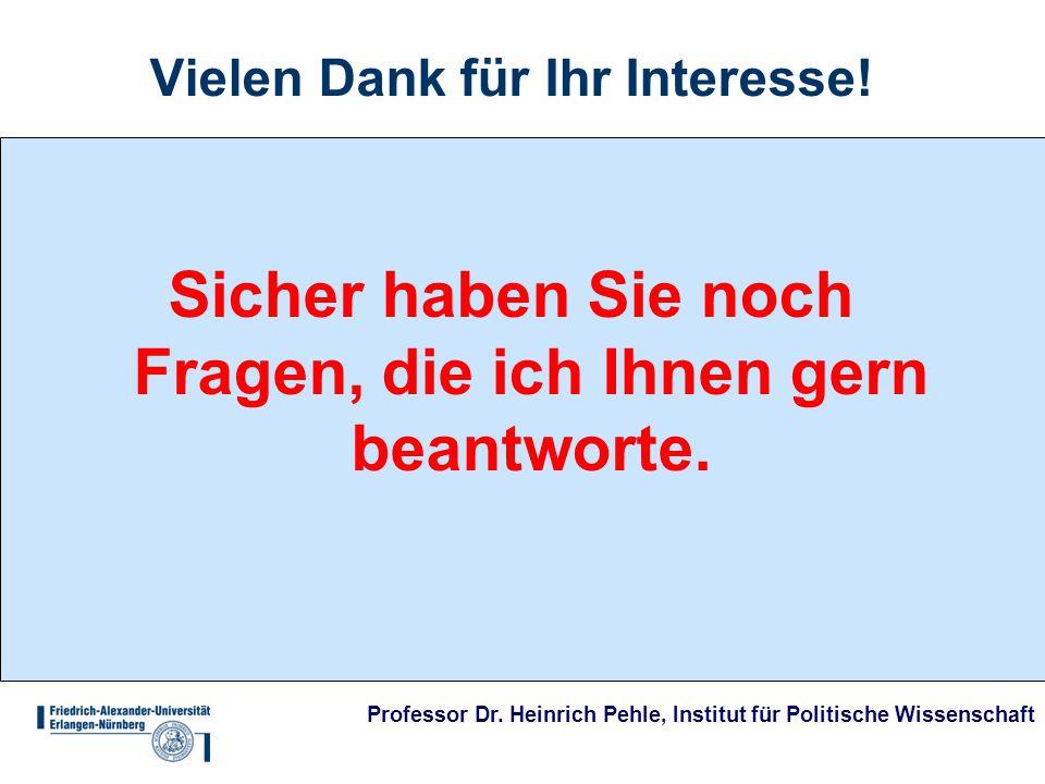 Professor Dr. Heinrich Pehle, Institut für Politische Wissenschaft Vielen Dank für Ihr Interesse.