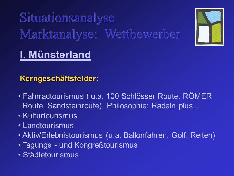 Kerngeschäftsfelder: I. Münsterland Fahrradtourismus ( u.a.