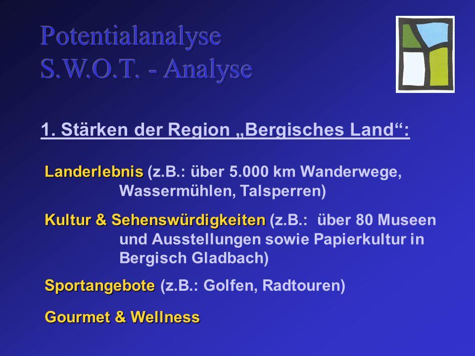 Landerlebnis Landerlebnis (z.B.: über 5.000 km Wanderwege, Wassermühlen, Talsperren) 1.
