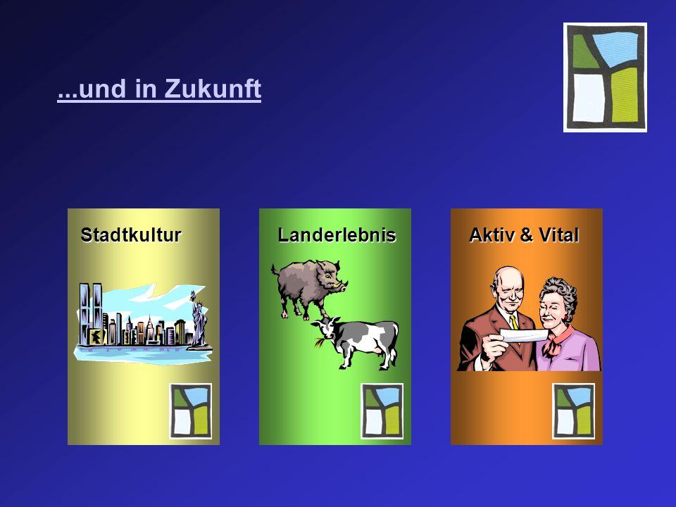 ...und in Zukunft StadtkulturLanderlebnis Aktiv & Vital