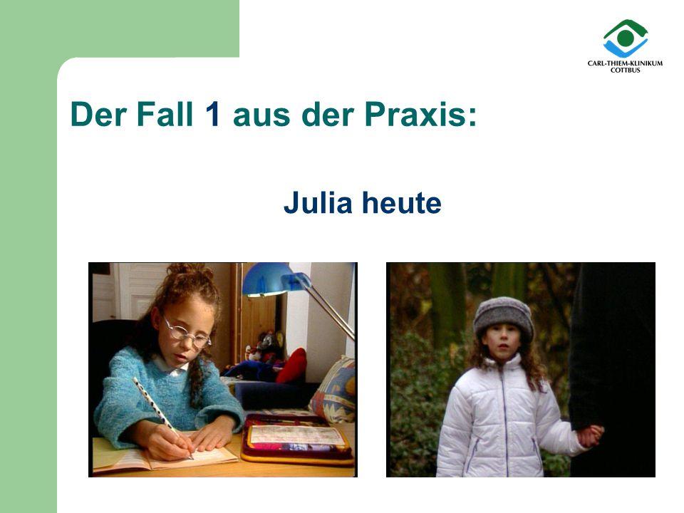 Julia heute Der Fall 1 aus der Praxis: