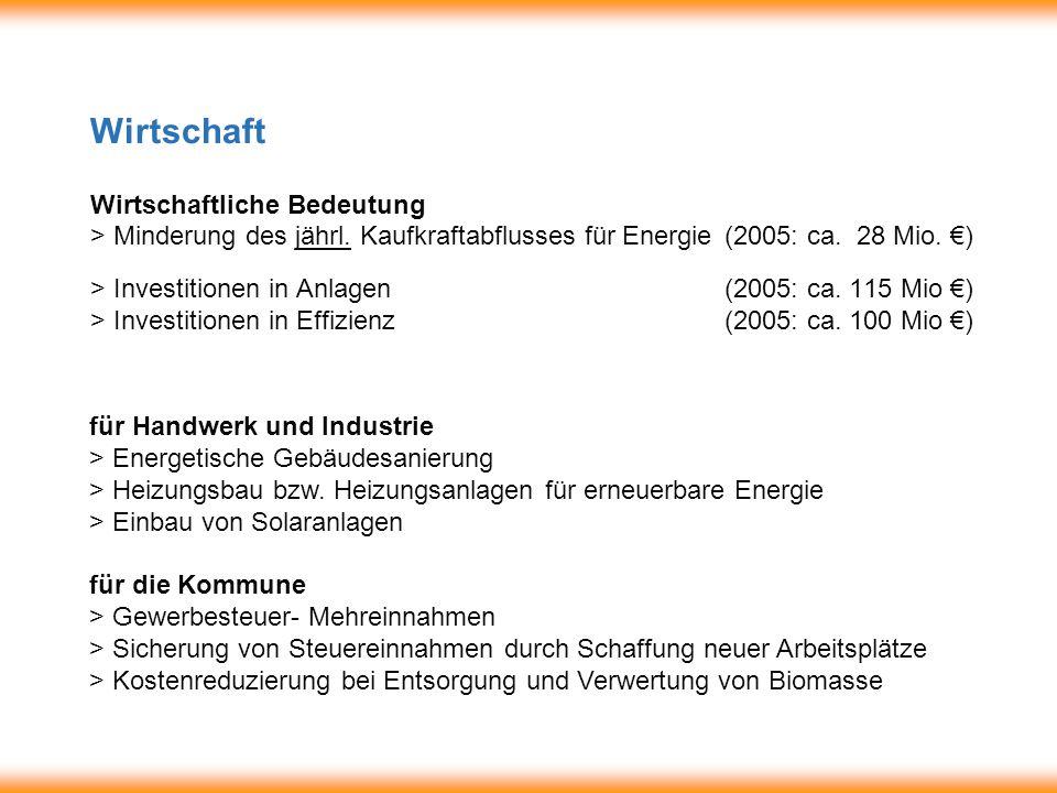 Wirtschaft Wirtschaftliche Bedeutung > Minderung des jährl.