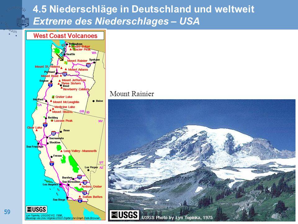 Mount Rainier 4.5 Niederschläge in Deutschland und weltweit Extreme des Niederschlages – USA 59