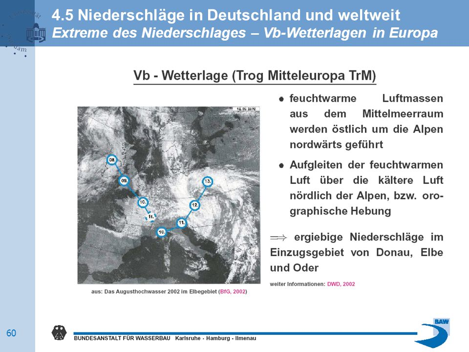 4.5 Niederschläge in Deutschland und weltweit Extreme des Niederschlages – Vb-Wetterlagen in Europa 60