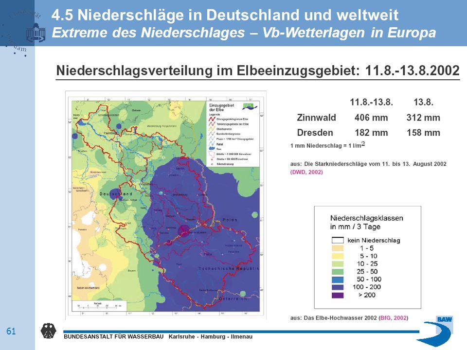 4.5 Niederschläge in Deutschland und weltweit Extreme des Niederschlages – Vb-Wetterlagen in Europa 61