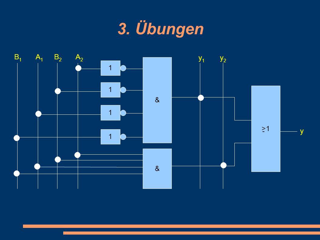 3. Übungen B1B1 A1A1 B2B2 A2A2 1 1 1 1 & & >1 -y y1y1 y2y2