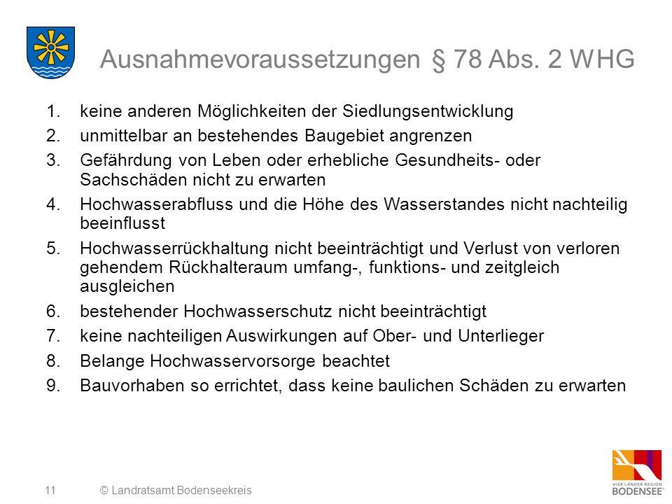 11 Ausnahmevoraussetzungen § 78 Abs.