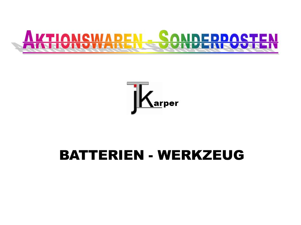 BATTERIEN - WERKZEUG arper