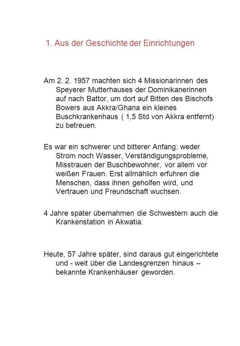 1. Aus der Geschichte der Einrichtungen Am 2. 2. 1957 machten sich 4 Missionarinnen des Speyerer Mutterhauses der Dominikanerinnen auf nach Battor, um