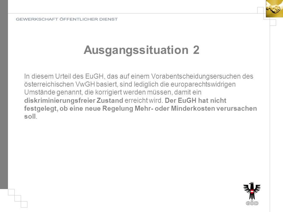 Ausgangssituation 2 In diesem Urteil des EuGH, das auf einem Vorabentscheidungsersuchen des österreichischen VwGH basiert, sind lediglich die europare