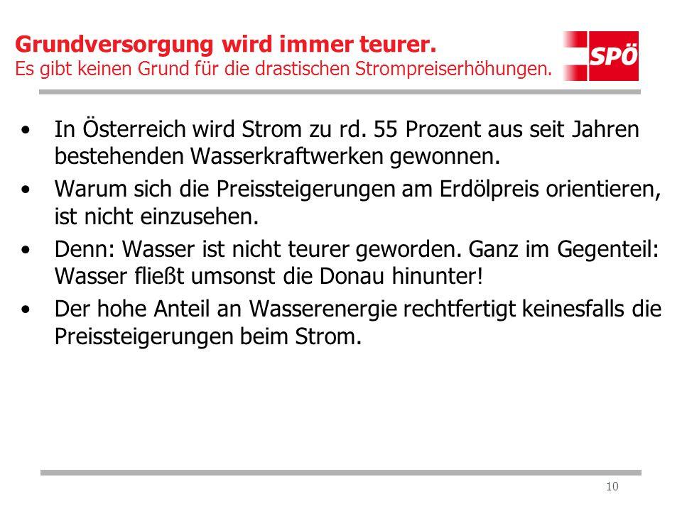 10 In Österreich wird Strom zu rd.