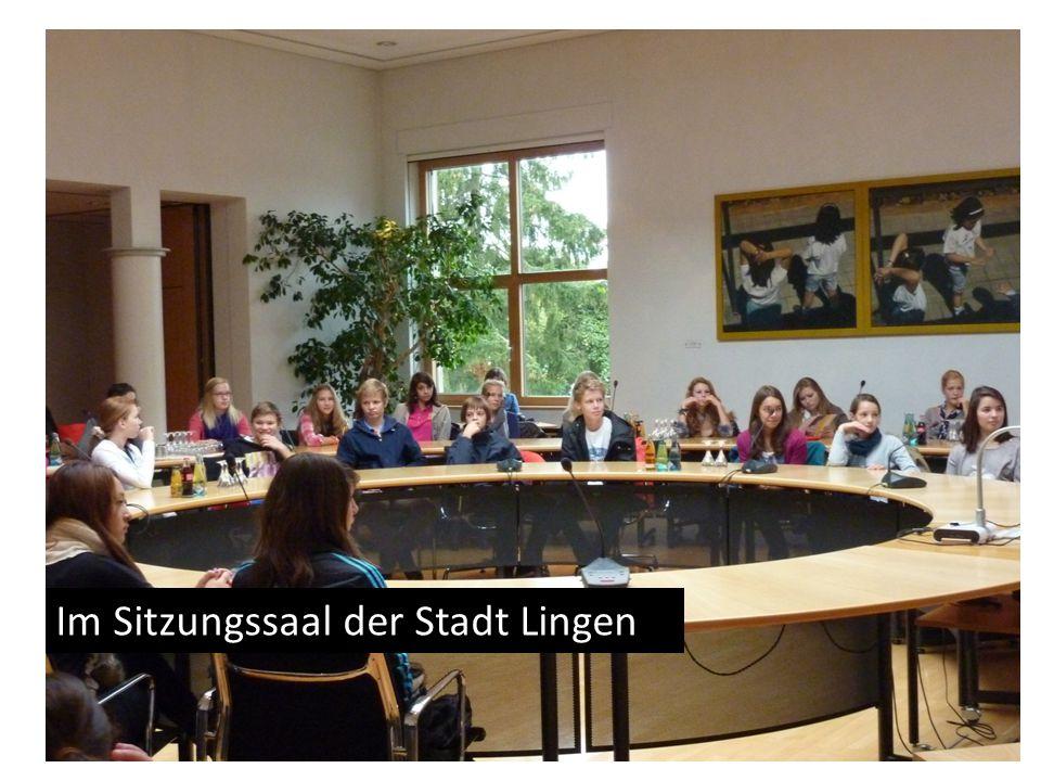 Im Sitzungssaal der Stadt Lingen