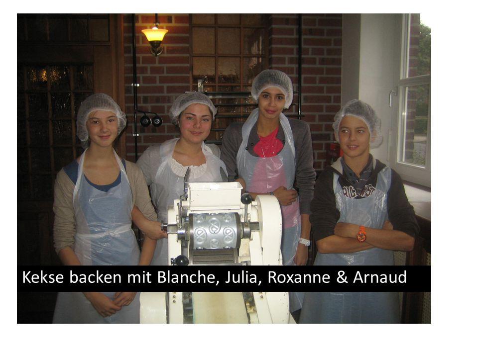 Kekse backen mit Blanche, Julia, Roxanne & Arnaud