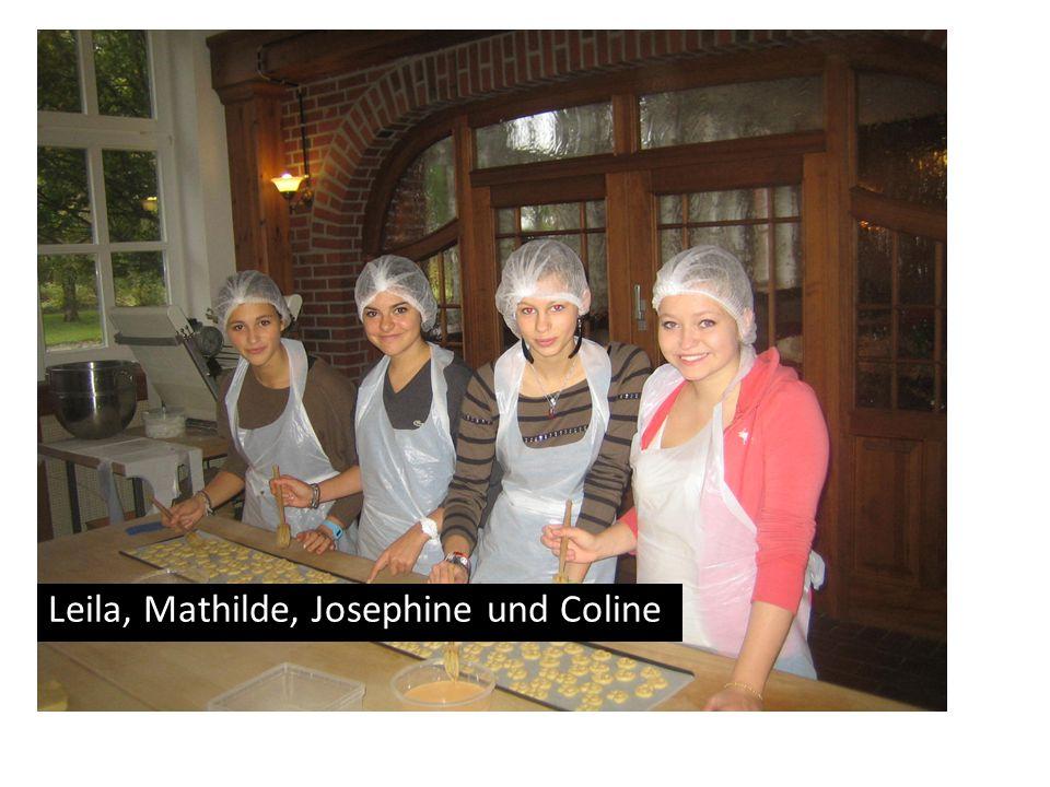 Leila, Mathilde, Josephine und Coline