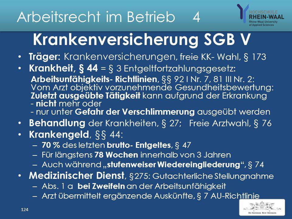 Arbeitsrecht im Betrieb 4 Kurzarbeit, § 95 ff SGB III Einführung nur bei Vereinbarung in Arbeits- oder Tarifvertrag Erheblicher Arbeitsausfall, § 96:
