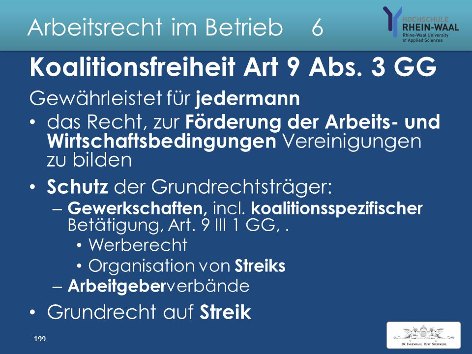Arbeitsrecht im Betrieb 6 Gewerkschaften & Tarifverträge Arbeitnehmerüberlassung & Scheinselbständigkeit 198