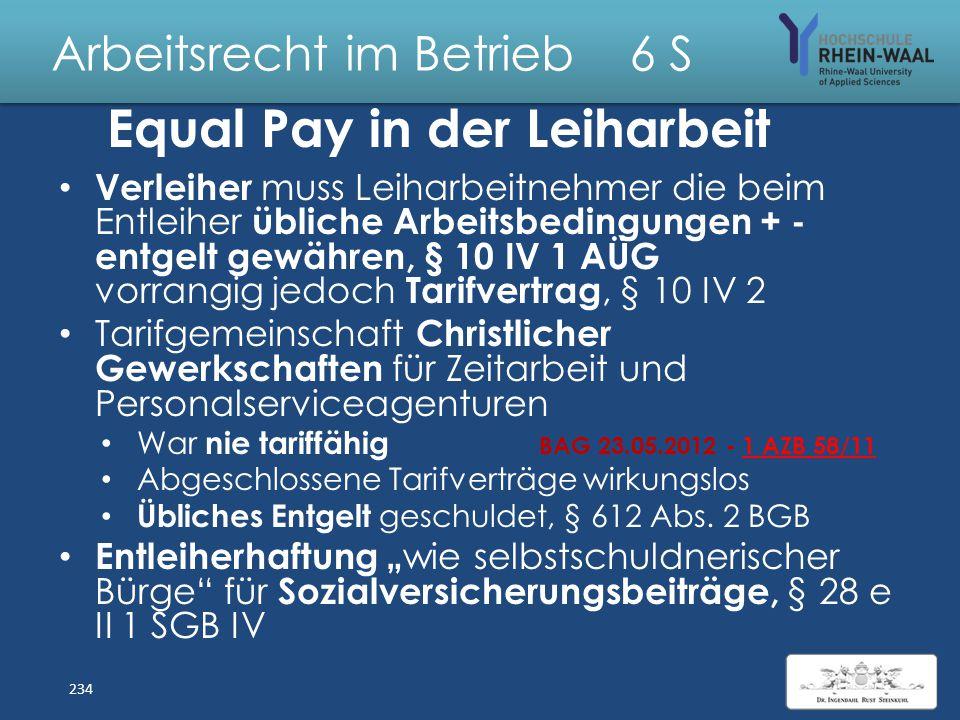 """Arbeitsrecht im Betrieb 6 S Kann der Betriebsrat die Beschäftigung von Leiharbeitnehmern verhindern? Verbot der """" nicht vorrübergehenden"""" Arbeitnehmer"""