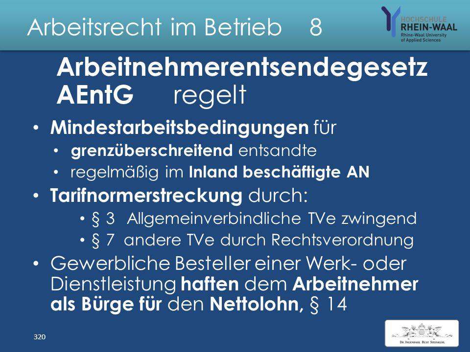 Arbeitsrecht im Betrieb 8 Teilzeit- u. Befristung sg esetz Schriftform, § 14 IV: – Vor Beginn des Arbeitsverhältnisses bzw. – Verlängerung vor Auslauf