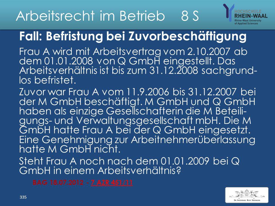 Arbeitsrecht im Betrieb 8 S Lösung: Entgeltfortzahlung bei Alkoholrückfall Arbeitsunfähigkeit verschuldet i.S.d. § 3 I 1 EFZG, wenn AN in erheblichem