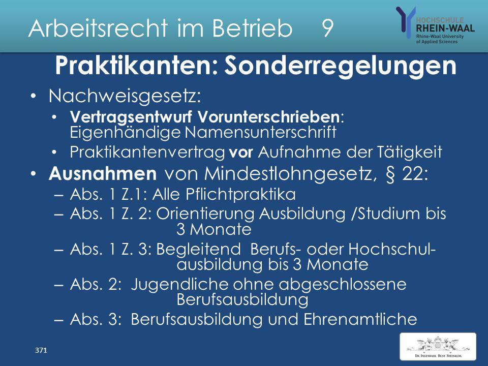 Arbeitsrecht im Betrieb 9 Wirksamkeit AGB im Arbeitsrecht Kontrolle insbesondere von Freiwilligkeits klauseln Widerrufs- und Rückzahlungsklauseln bei
