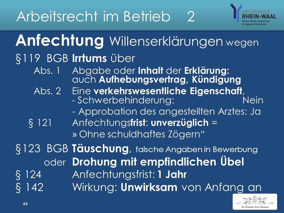 Arbeitsrecht im Betrieb 2 Verträge: Unwirksamkeitsgründe § 134 Gesetzliches Verbot: - Einseitiges Verbotsgesetz, BGH 2013 : Handwerkervertrag Verstoß