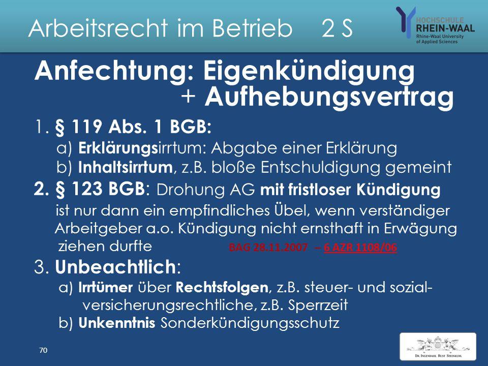 """Arbeitsrecht im Betrieb 2 S Fall: Kündigung unter einer Bedingung: """"Wir kündigen fristgerecht zum 28.02.2015, falls Sie nicht bereit sind, ab dem 09.1"""