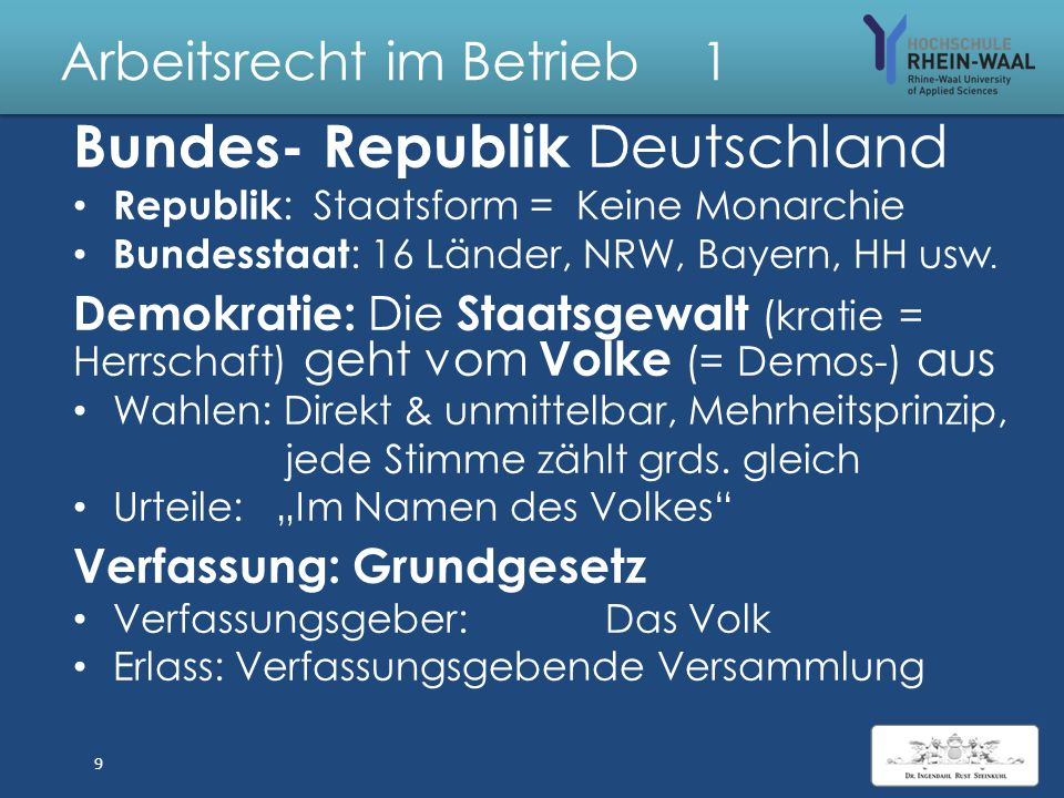 Arbeitsrecht im Betrieb 5 Kündigungsschutzgesetz KSchG 1.