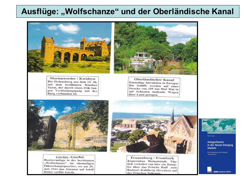 """Ausflüge: """"Wolfschanze"""" und der Oberländische Kanal"""