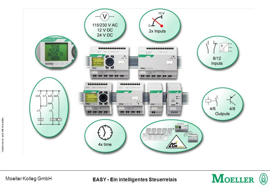 Moeller Kolleg GmbH Schutzvermerk nach DIN 34 beachten EASY - Ein intelligentes Steuerrelais Typenschlüssel - EASY....
