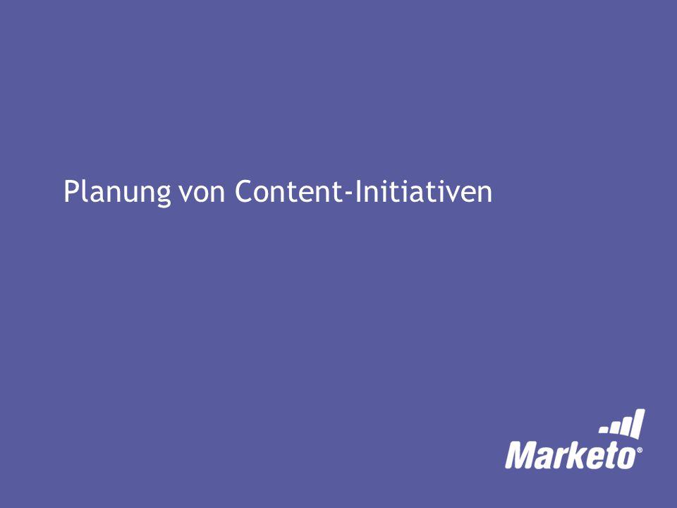 Planung von Content-Initiativen