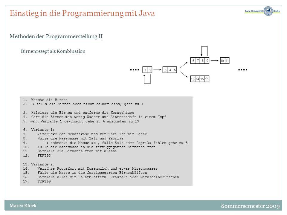 """Sommersemester 2009 Marco Block Einstieg in die Programmierung mit Java Programme in Java Einfaches Programm ProgrammEins.java public class ProgramEins{ public static void main(String[] args){ System.out.println(""""Endlich ist es soweit."""